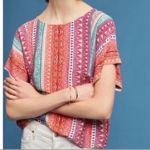 NWT Anthro Maeve pattern top